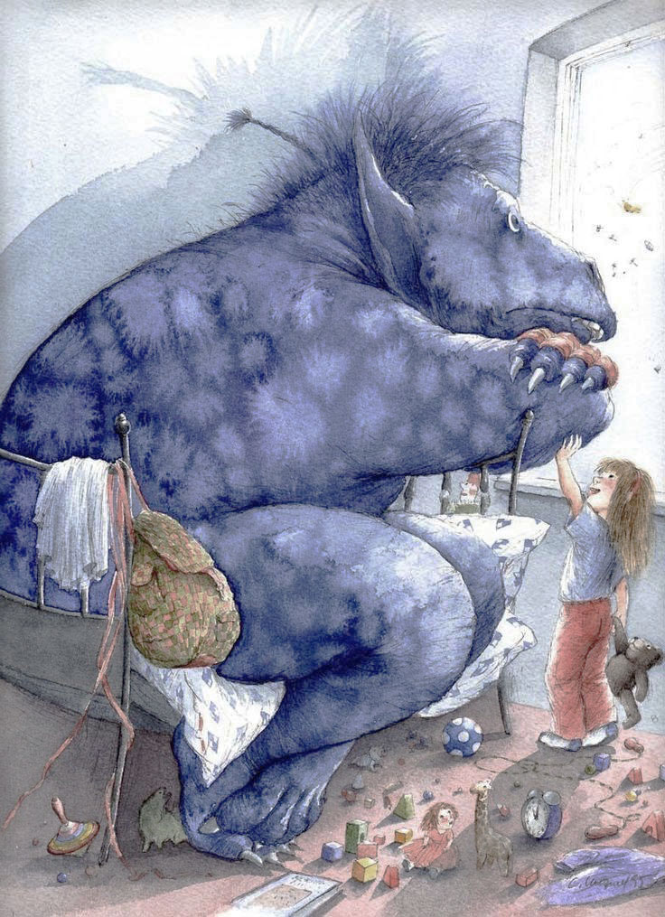 The Blue Monster by Crista Unzner