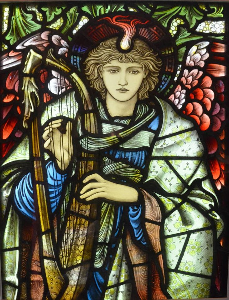 ''Praising Angel,'' a stained glass window designed by Sir Edward Burne-Jones