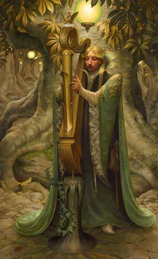 Galadriel's Harp by Stephen Hickman