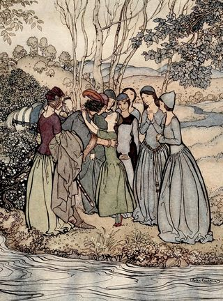 Erlington Had a Fair Daughter by Arthur Rackham 2