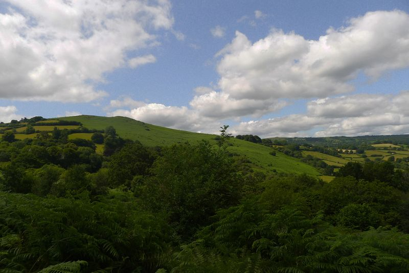 Meldon Hill viewed from Nattdon Hill