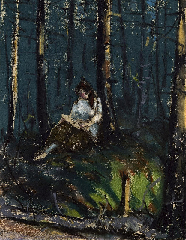 The Reader in the Forest by Robert Henri