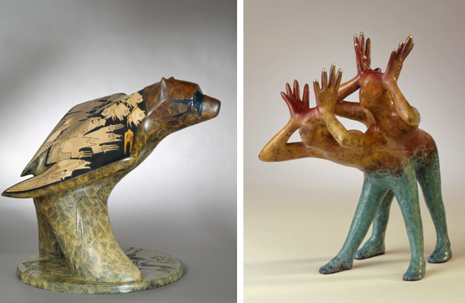 Hawk Bear & Deer Dancers by Gene & Rebecca Tobey