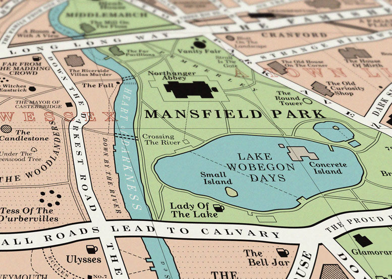 A detail from the Book Map of London, Dorothy Studio