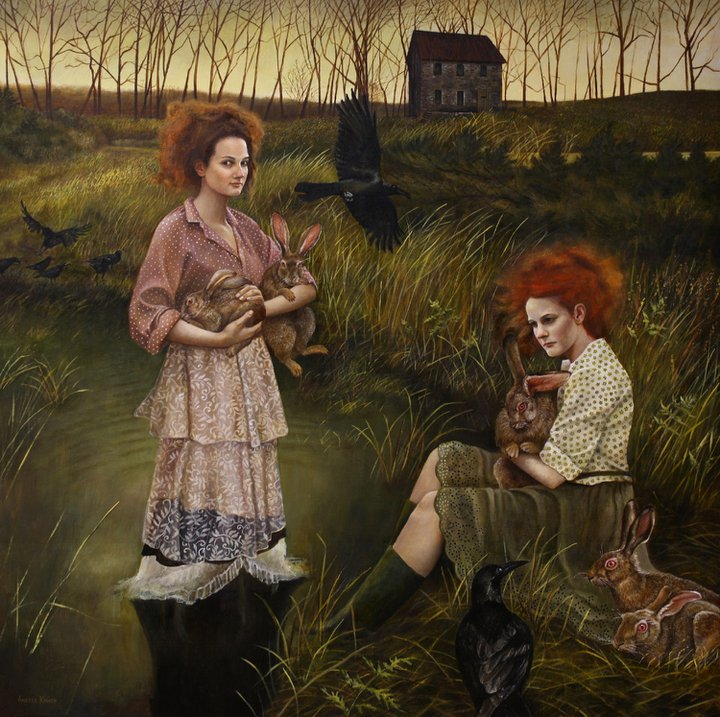 Marsh Hares by Andrea Kowch