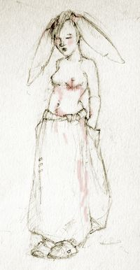 Bunny Maiden with Scars by Terri Windling