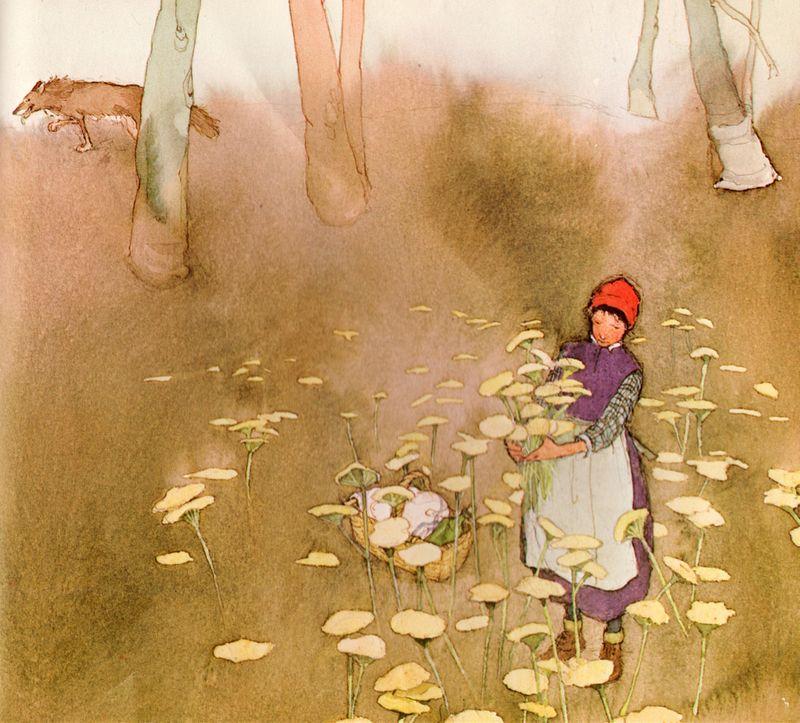 Little Red Cap illustration by Lisbeth Zwerger