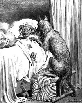 Grandmother and the Wolf by Dore