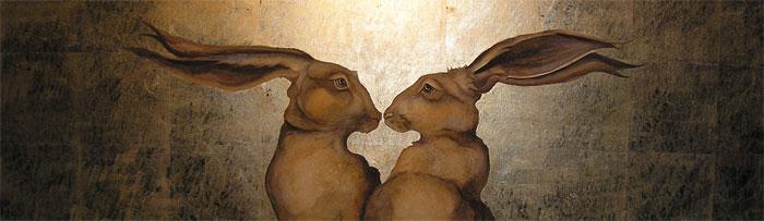 Hares their holes rub Beautiful