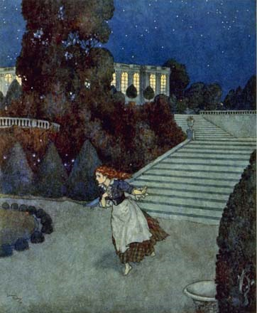Cinderella flees the ball by Edmund Dulac