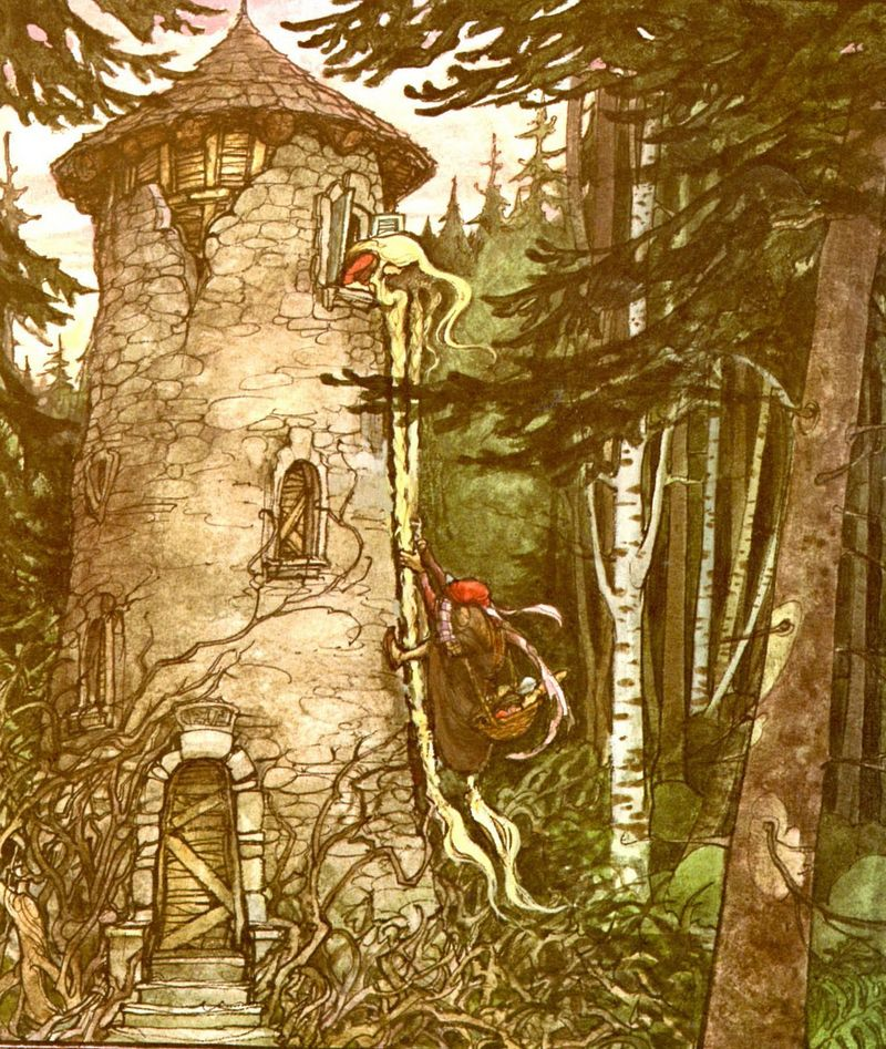 Rapunzel's tower by Trina Schart Hyman