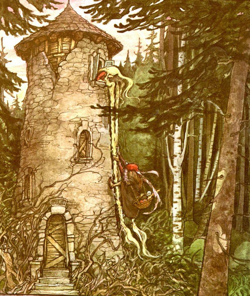 Rapunzel's tower by Trina Schart Hyman