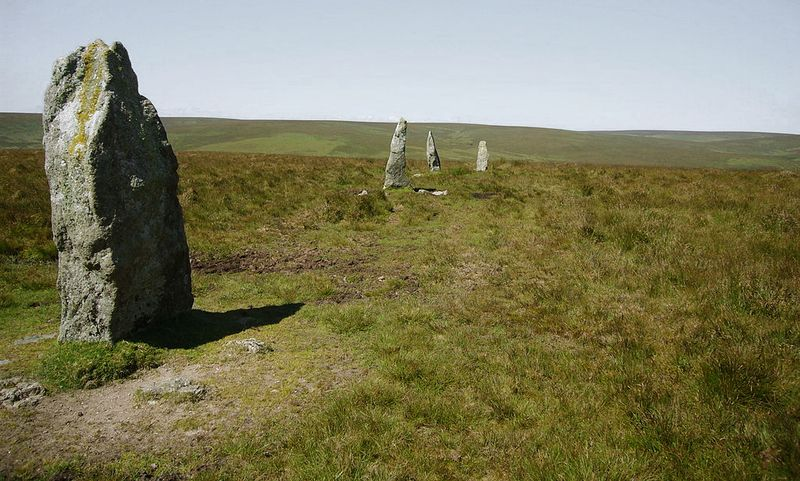 Stall moor row, southern Dartmoor, photograph by Herby Thyme
