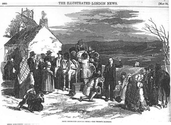 Irish Emigrants Leaving Home