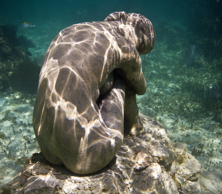No Turning Back by Jason Decaires Taylor, Punta Nizuc, Mexico