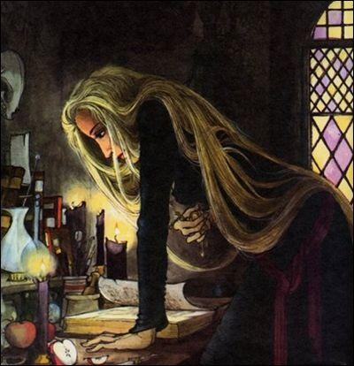 Snow White's stepmother seeking spells by Trina Schart Hyman