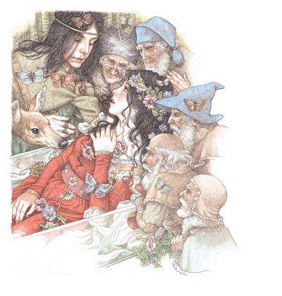 Snow White awakes by Yvonne Gilbert