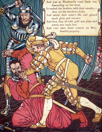 The Brothers Come to the Rescue by Walter Crane