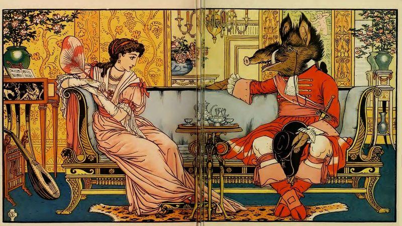 Beauty & the Beast by Walter Crane
