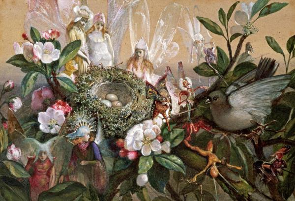 Fairies Round a Bird's Nest by John Anster Fitzgerald