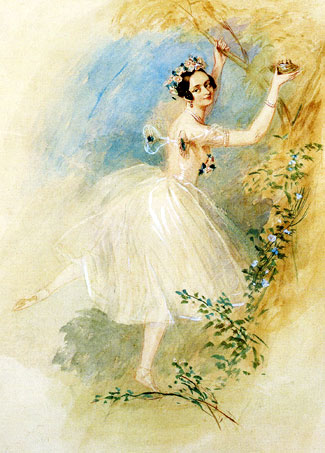 Marie Taglioni in Sylphide by Alfred Edward Chalon