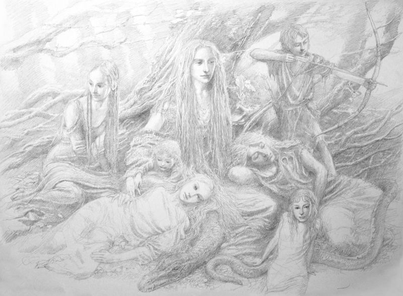Faeries of the Wood by Alan Lee
