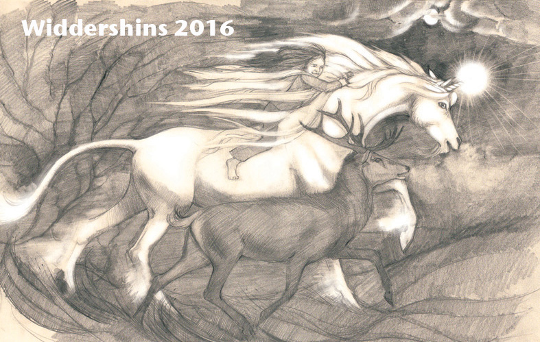 Widdershins 2016 poster drawing by Leo Grey