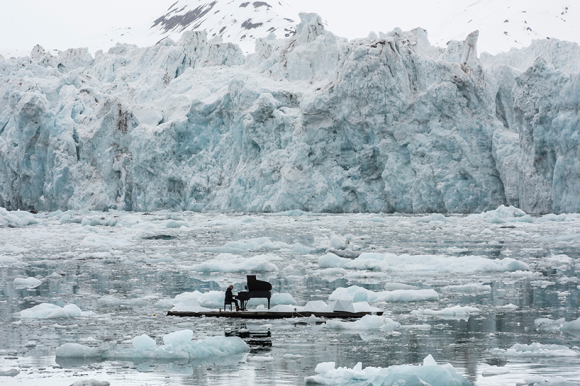 Ludovico Einaudi performs in the Arctic Ocean