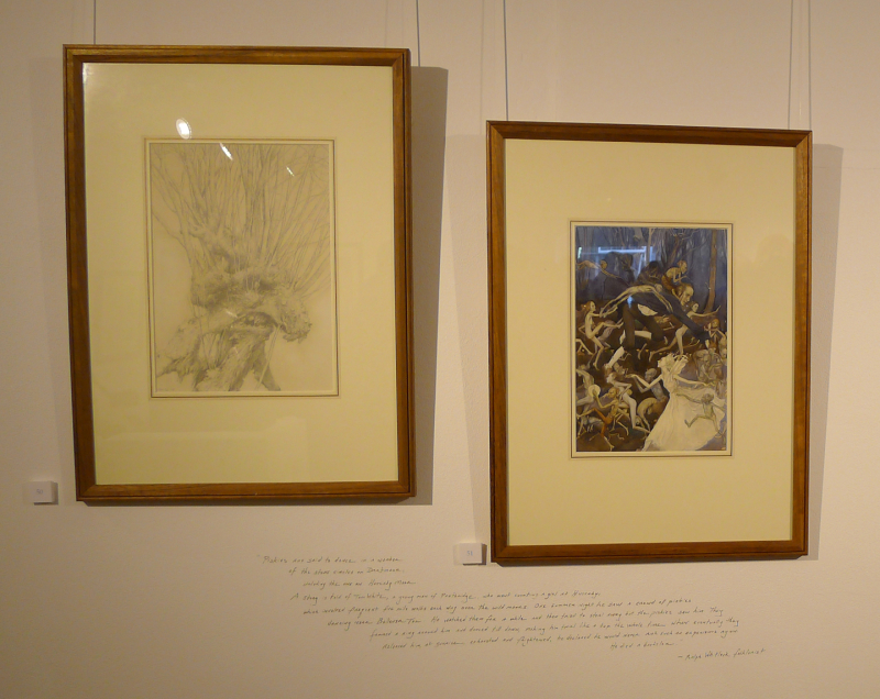 Faery drawing and painting by Alan Lee