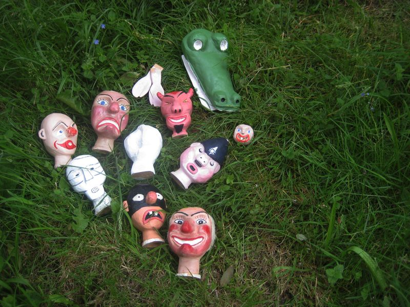 Punch & Judy puppet heads