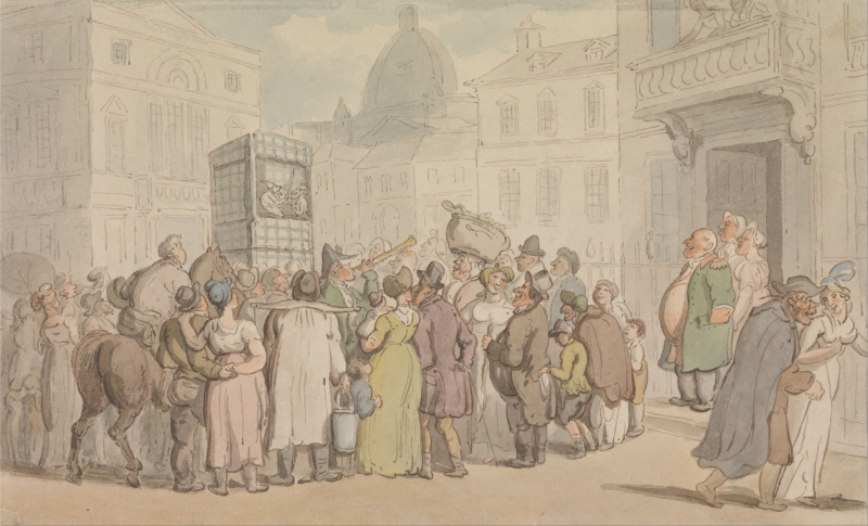 Punch & Judy by Thomas Rowlandson (1756 - 1827)