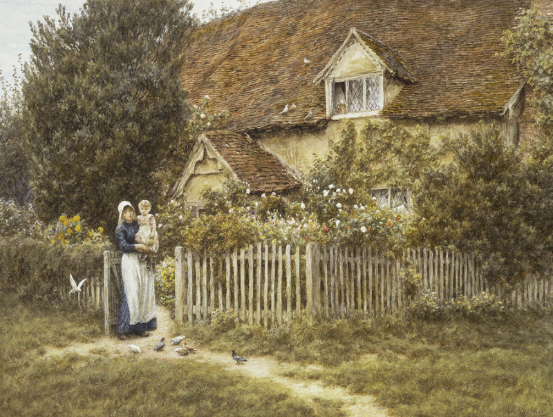 East End Farm by Helen Allingham