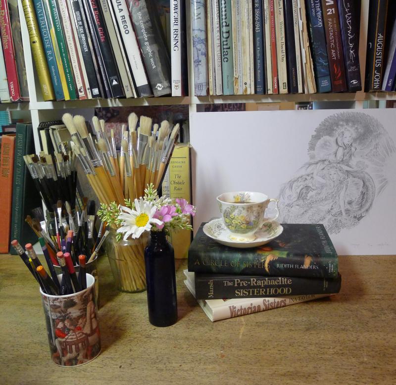 My studio desk