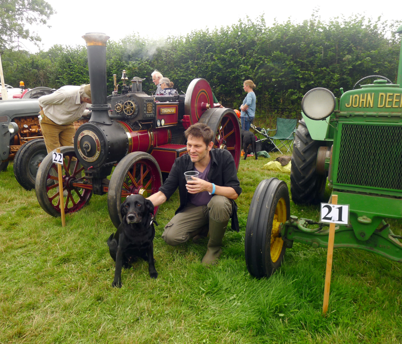 Tilly & Howard at the old tractor dispay