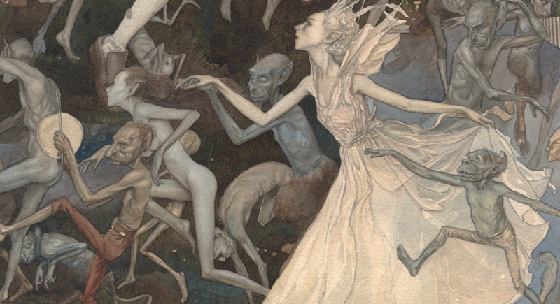 Detail from the Widdershins poster art, by Alan Lee
