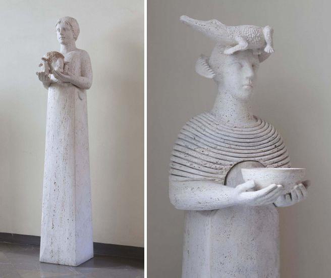 Figure with Ram's Head & Cele with Crocodile by Girolamo Ciulla