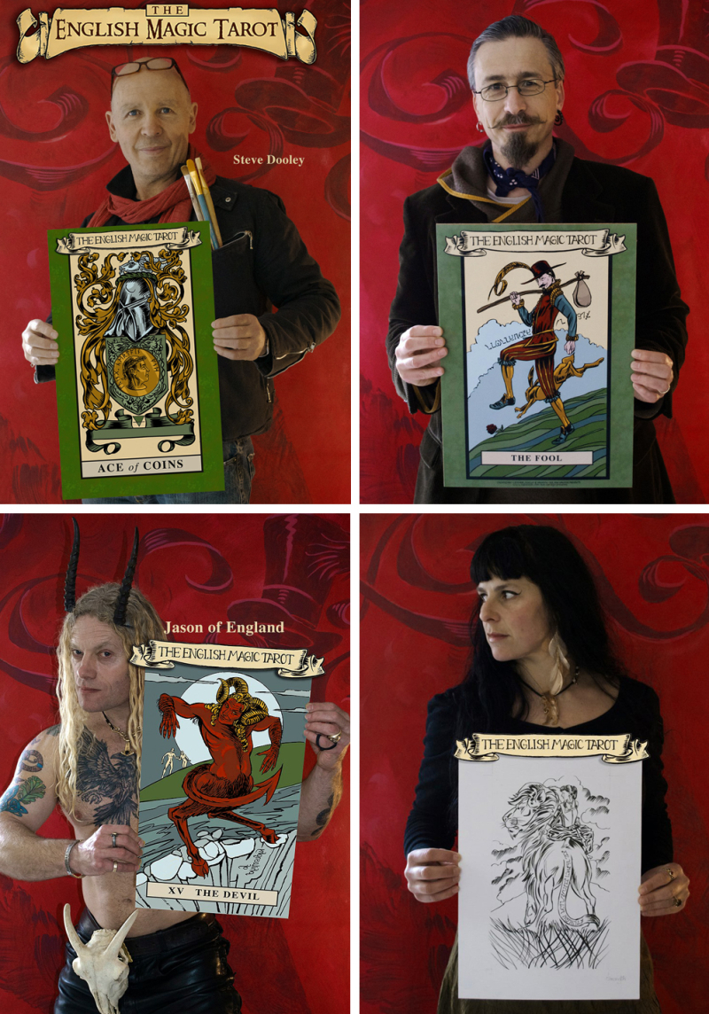 Steve Dooley, Andy Letcher, Jason of England & Ruth Olley as Major Arcana