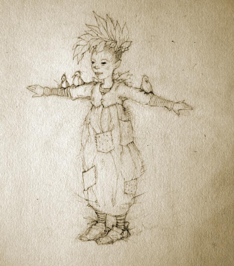 My drawing ''Bird Child & Friends''