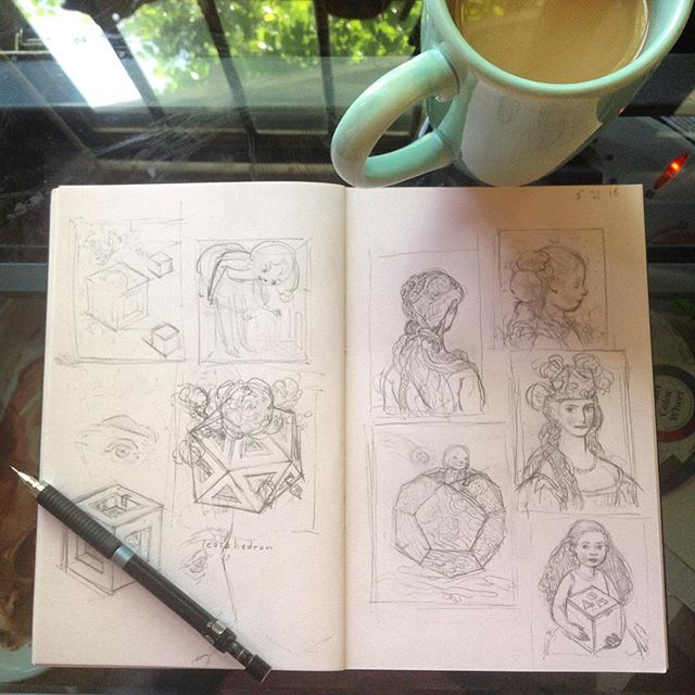 Sketchbook pages by Kristin Kwan