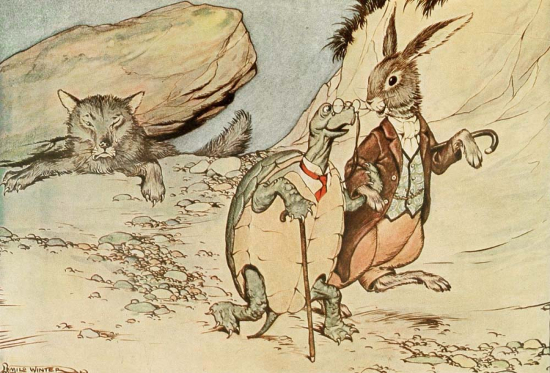 The Tortoise and the Hare by Milo Winter