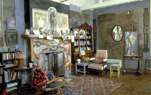 Duncan Grant's studio at Charleston
