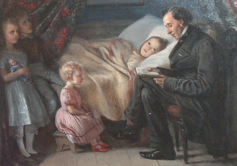 Hans Christian Andersen Reading by Elisabeth Jerichau-Baumann