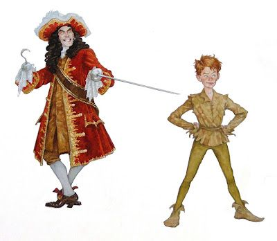 Captain Hook and Peter by PJ LYnch