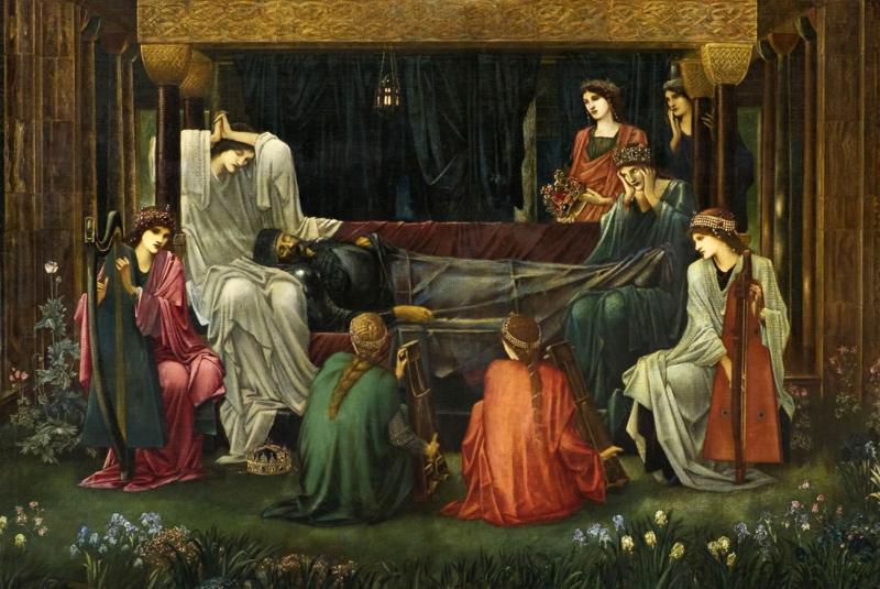 The Death of King Arthur by Edward Burne-Jones