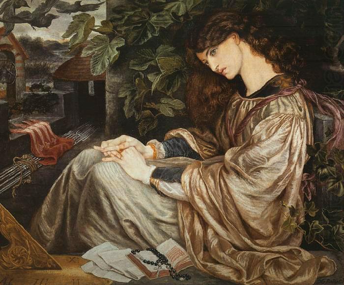 La Pia de' Tolomei (from Dante's Purgatorio) by Dante Gabriel Rossetti