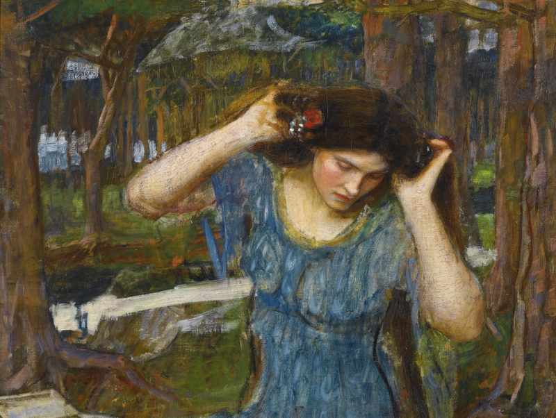 Lamia (study) by John William Waterhouse