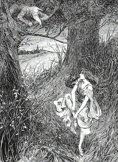 Helen Stratton's illustration for George Macdonald's Princess & Curdie