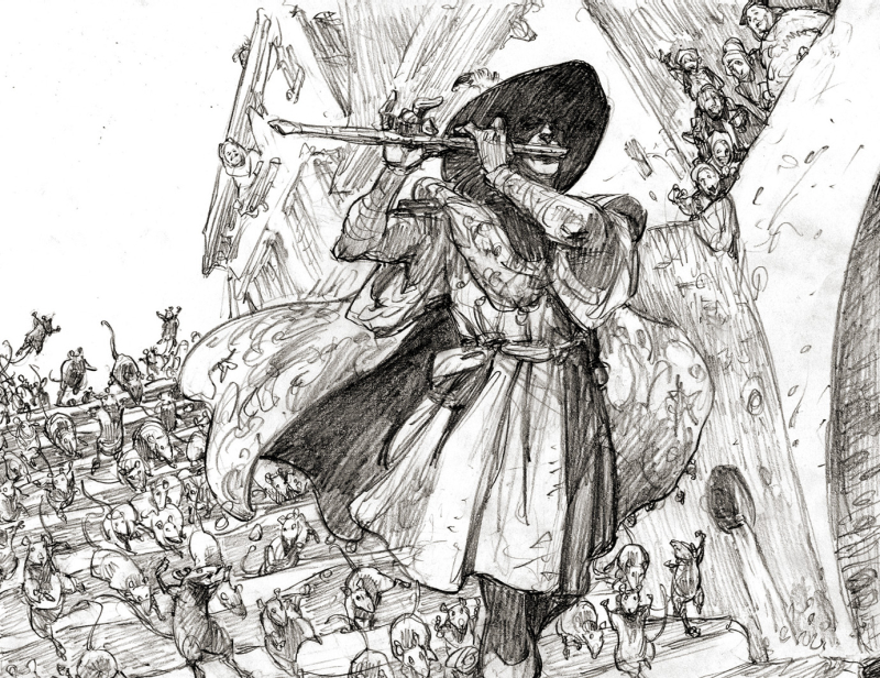 Pied Piper sketch by Iain McCaig
