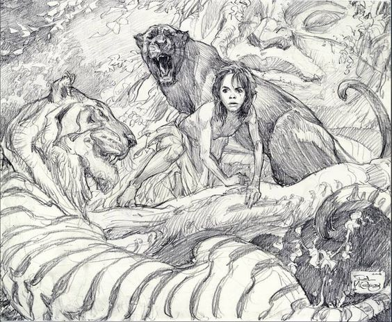 Sketch for The Jungle Book by Iain McCaig