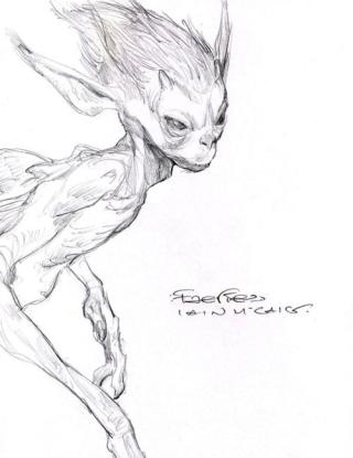 Dark faery sketch buy Iain McCaig